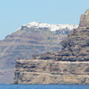 Santorini Fira Art Print