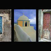 Santorini Memories Art Print