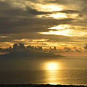 Santorini. Sunlight Art Print