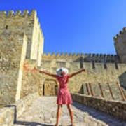 Sao Jorge Castle Tourist Art Print