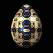 Sapphire And Gold Imperial Easter Egg Art Print