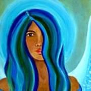 Sapphire Angel Art Print