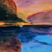 Sapphire Blue Water Art Print