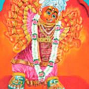 Saptashrungi Devi Nasik Maharashtra Art Print by Kalpana Talpade Ranadive