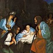 Saraceni Carlo The Birth Of Christ Art Print