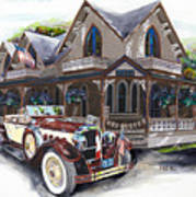 Sarah Elizah The Packard Art Print by Mike Hill