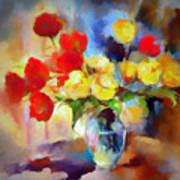 Sara's Colorful Bouquet  Art Print