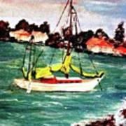 Sarasota Bay Sailboat Art Print