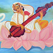 Saraswati Art Print by Shruti Prasad