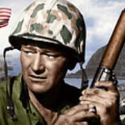 Sargent Stryker U S M C  Iwo Jima Art Print