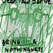 Sartre Poster Jp  Art Print