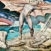 Satan Smiting Job With Sore Boils Art Print