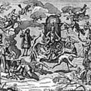 Satan With Cavorting Dancers, 18th Art Print