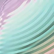 Satin Movements Sky Blue Art Print