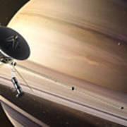 Saturn Flyby Art Print