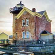Saugerties Lighthouse Art Print by Nancy De Flon