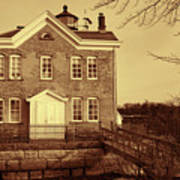 Saugerties Lighthouse Sepia Art Print