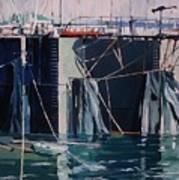 Sausalito Docks Art Print