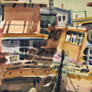 Sausalito House Boats Art Print