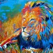 Savanna King Art Print
