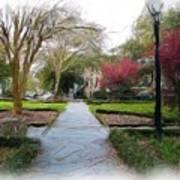 Savannah Park. Art Print