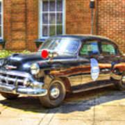 Savannah Police Car 1953 Chevrolet  Art Print