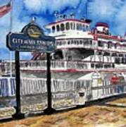 Savannah River Queen Boat Georgia Art Print