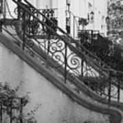 Savannah Stoops - Black And White Art Print