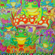 Save Our Frogs Art Print by Nick Gustafson