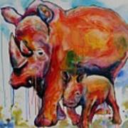 Save The Rhinos Art Print