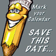 Save This Date Art Print
