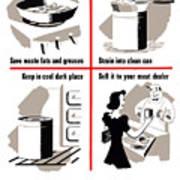 Save Waste Fats - Ww2  Art Print
