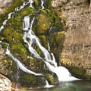 Savica Waterfall Art Print