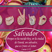 Savior Spanish Art Print