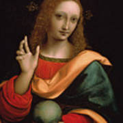 Saviour Of The World Art Print by Giovanni Pedrini Giampietrino