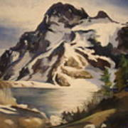 Sawtooth Mountain Lake Art Print