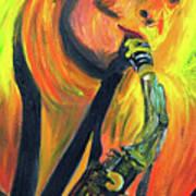 Sax Diva Art Print