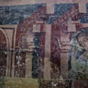 Saxon Medieval Frescoes, Transylvania Art Print
