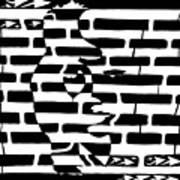Saxophone Player Or Woman Maze Art Print