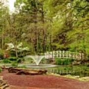 Sayen Gardens Bridge Series Art Print