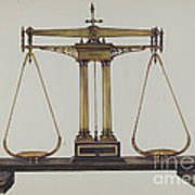 Scales For Weighing Gold Art Print