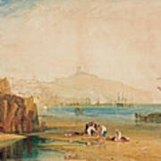 Scarborough Town And Castle Art Print