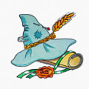 Scarecrow Hat From Wizard Of Oz Art Print