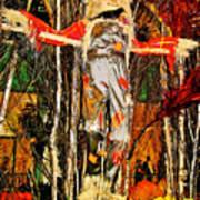 Scarecrow In Bellagio Conservtory In Las Vegas-nevada Art Print
