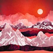 Scarlet Glow Art Print