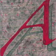 Scarlet Letter With Green Background Art Print