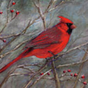 Scarlet Sentinel Art Print