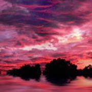 Scarlet Skies Art Print