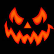 Scary Pumpkin Face T-Shirt for Sale by Martin Capek
