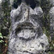 Scary Stone Head Art Print